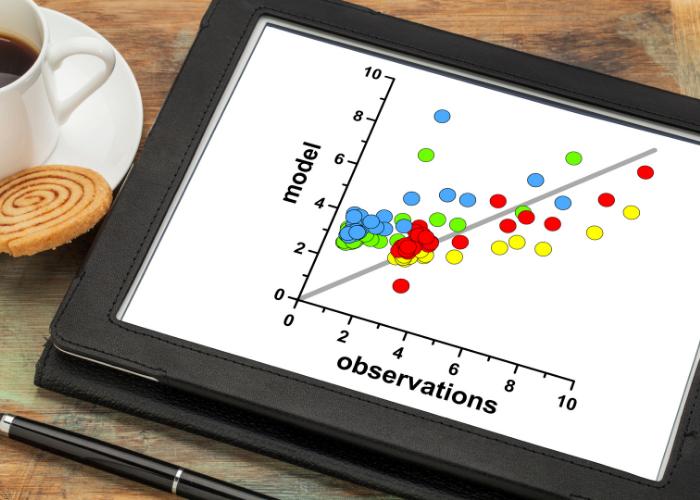Exemplo de um gráfico que representa correlação entre variáveis
